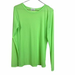 FreeKisses Sheer Long Sleeve Neon Top